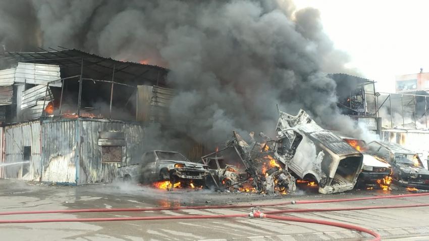 Bursa merkezde büyük yangın