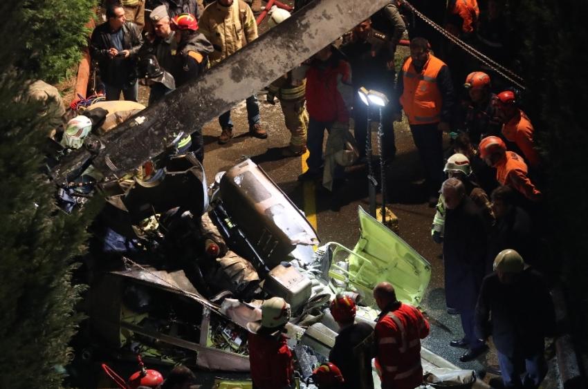 İstanbul'daki helikopter kazasında flaş gelişme