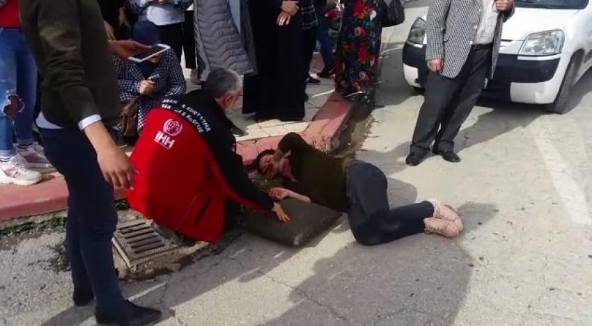 Bursa'da kadına hafif ticari araç çarptı