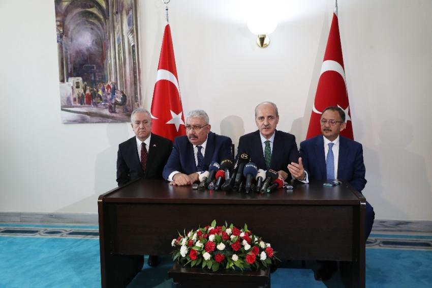 AK Parti-MHP görüşmesi sonrası açıklama