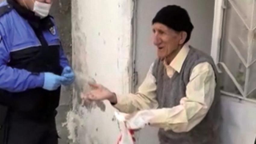 86 yaşındaki adam polisten öyle bir şey istedi ki!