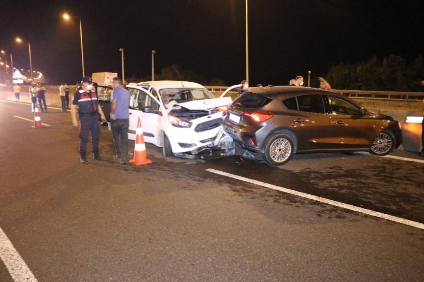 Zincirleme kaza nedeniyle TEM Otoyolu İstanbul istikametine trafiğe kapatıldı