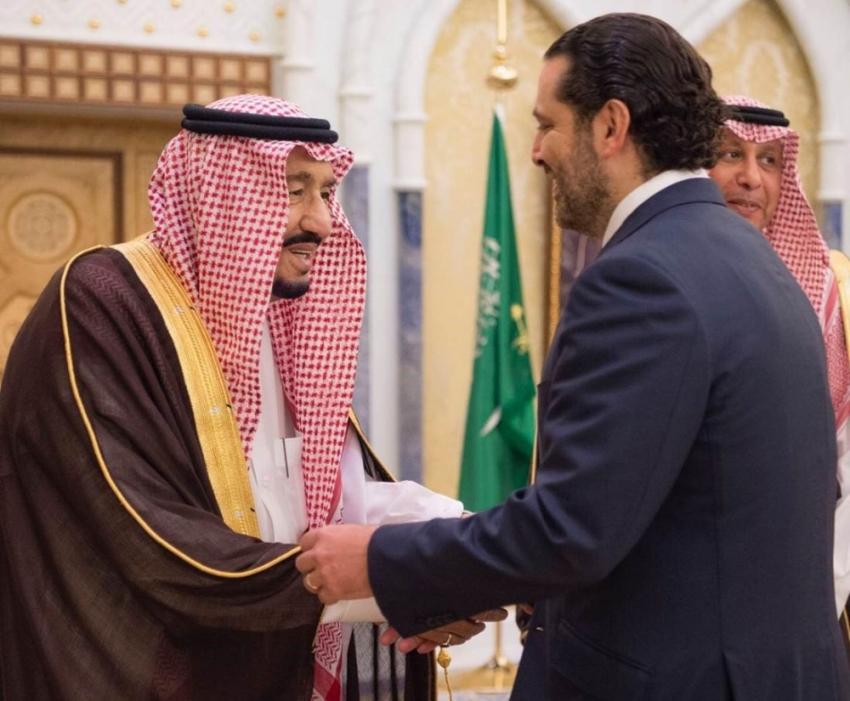 Kral Selman Lübnan'ın istifa eden başbakanı ile görüştü