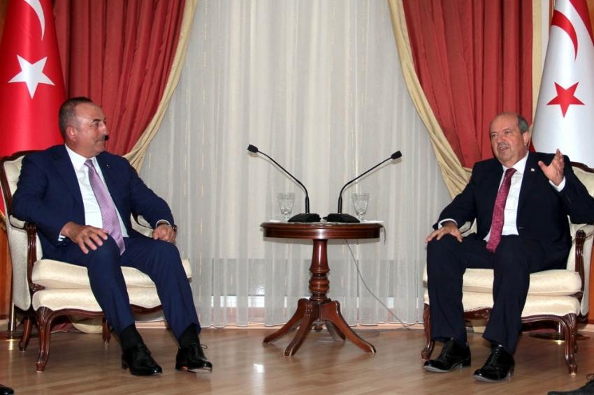 Bakan Çavuşoğlu, KKTC Başbakanı Tatar ile görüştü