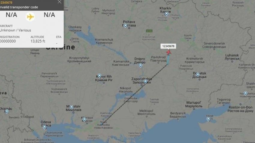 Donbass'ta keşif uçuşu