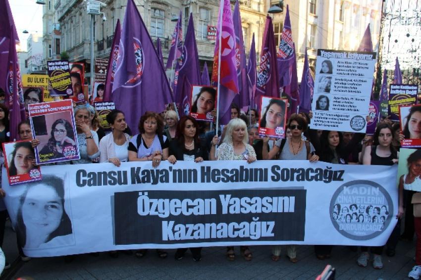 Taksim'de Cansu Kaya için yürüdüler