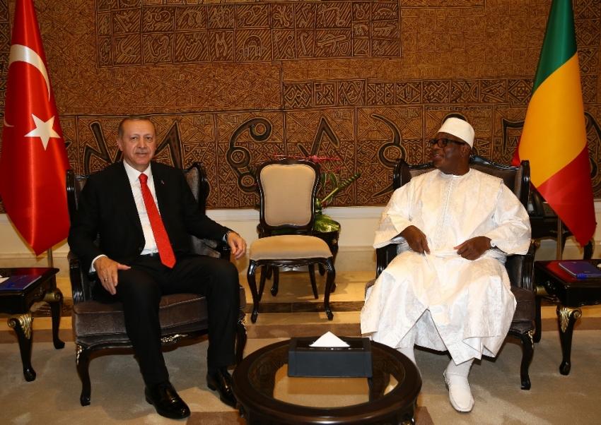 Cumhurbaşkanı Erdoğan, Malili mevkidaşıyla görüştü