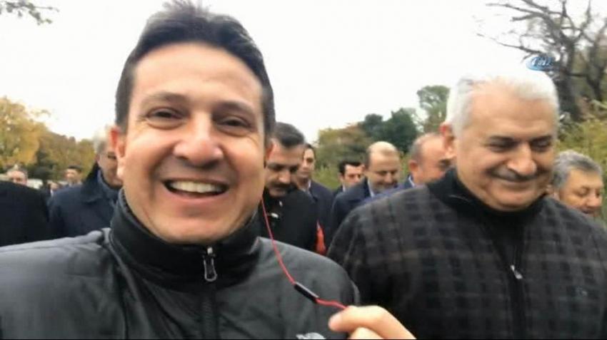 Başbakan Yıldırım Amerika'da sabah yürüyüşüne çıktı