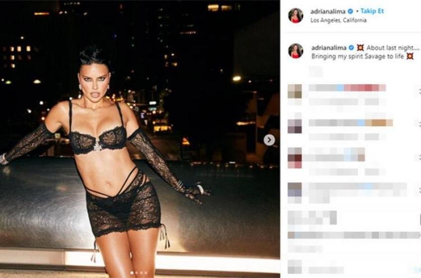 Adriana Lima'dan iddialı pozlar