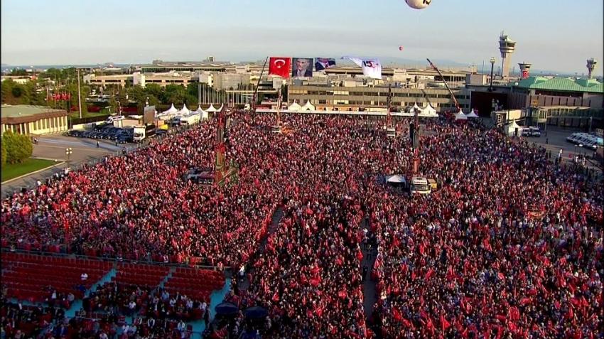 """Atatürk Havalimanı'nda """"15 Temmuz Milli Birlik ve Demokrasi Günü"""" programı başladı"""