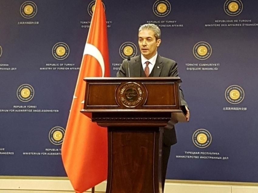 """Dışişleri Sözcüsü Aksoy: """"ABD Büyükelçiliği Maslahatgüzarı bakanlığa çağrıldı"""""""