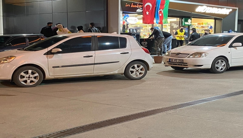 Bursa'da petrol istasyonunda kahve keyfine büyük ceza