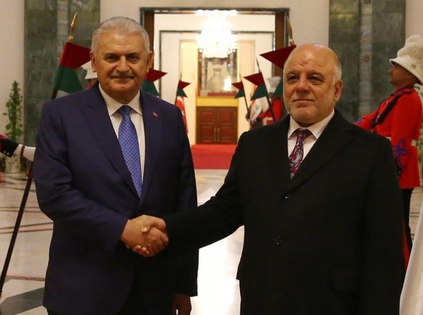 Başbakan Yıldırım, İbadi ile Irak seçimlerini görüştü