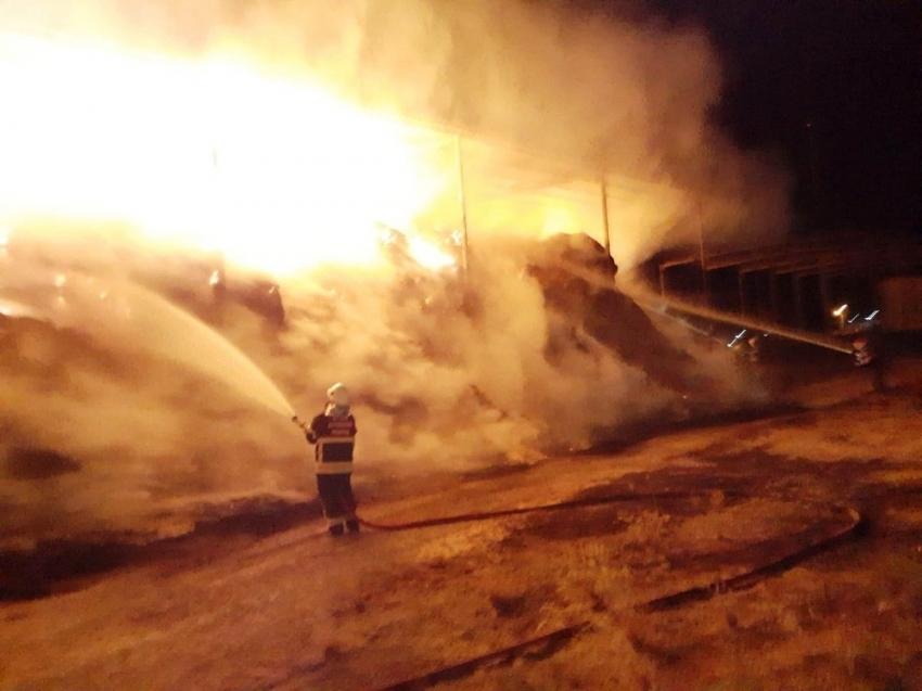 Çiftlikte büyük yangın