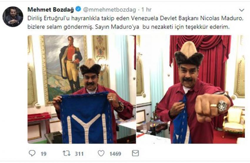 Devlet Başkanı Maduro 'Diriliş' hayranı çıktı