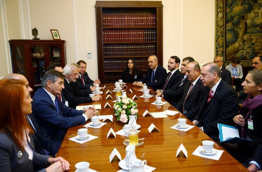 Erdoğan Kuchcinski ile görüştü
