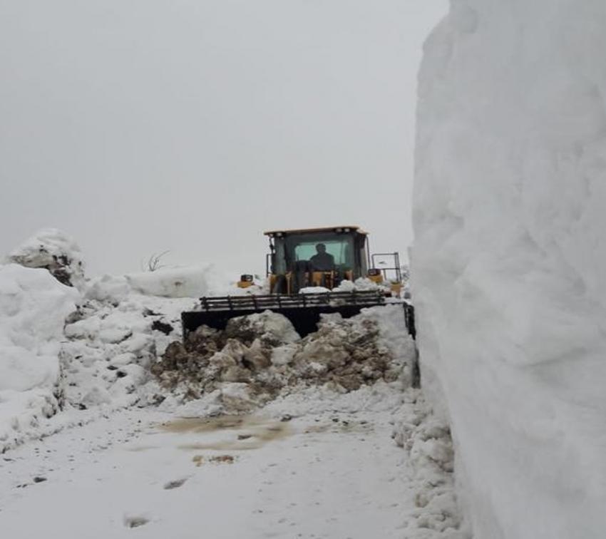 Mart ayında karla mücadele