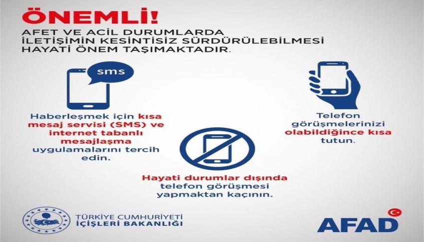 İçişleri Bakanı Soylu'dan afet anında iletişim uyarısı