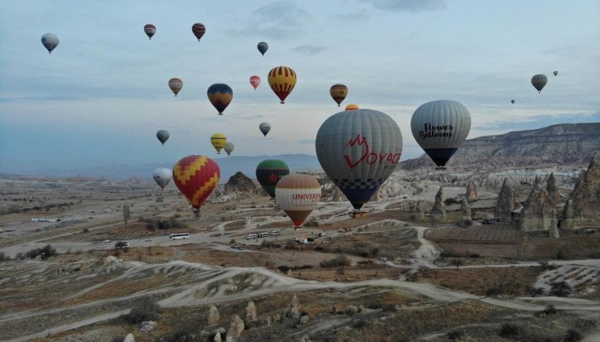 Kapadokya'da balon turları yine iptal oldu