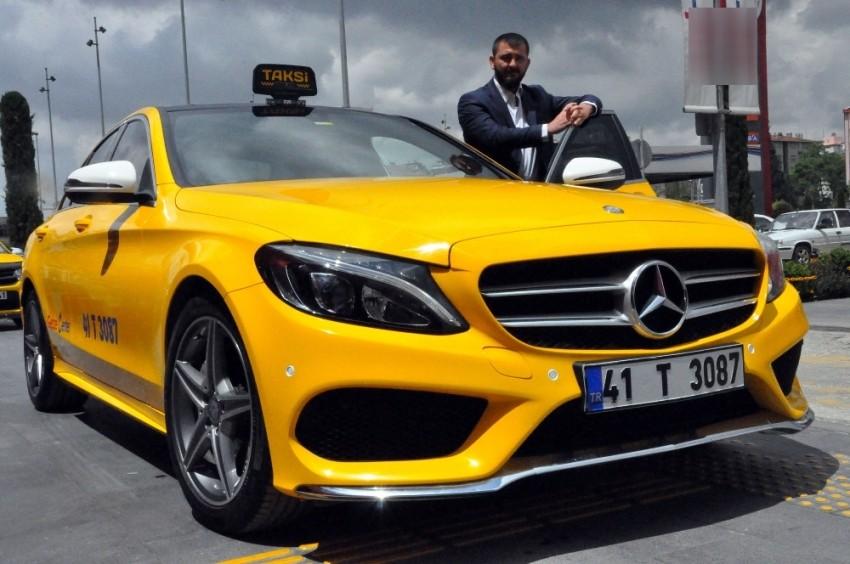 200 bin TL'lik lüks aracı taksiye çevirdi
