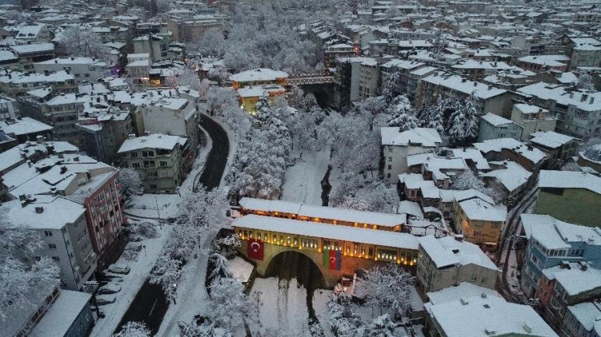 Bursa'da kışın güzelliği