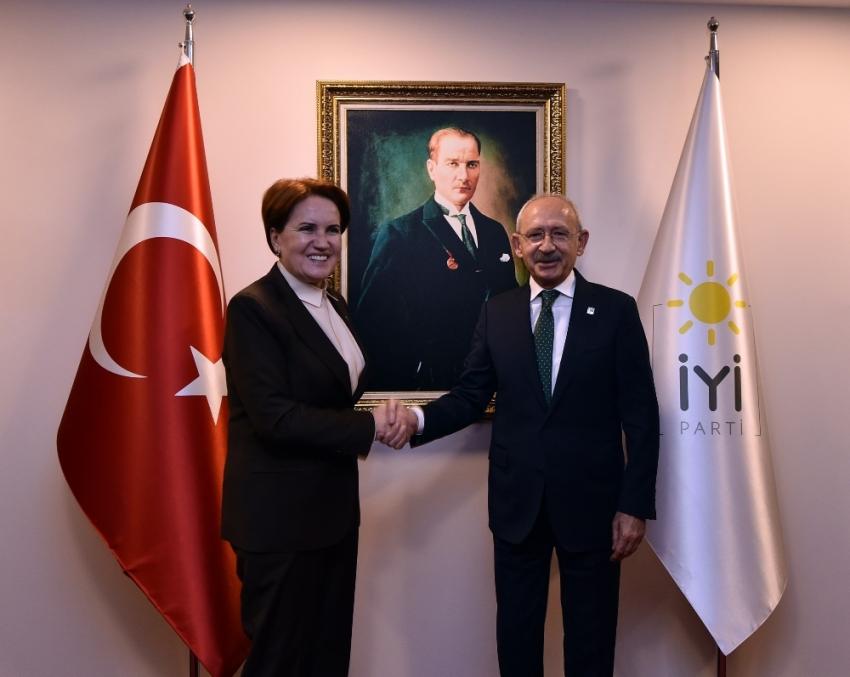 CHP Genel Başkanı Kılıçdaroğlu, Akşener'i ziyaret etti