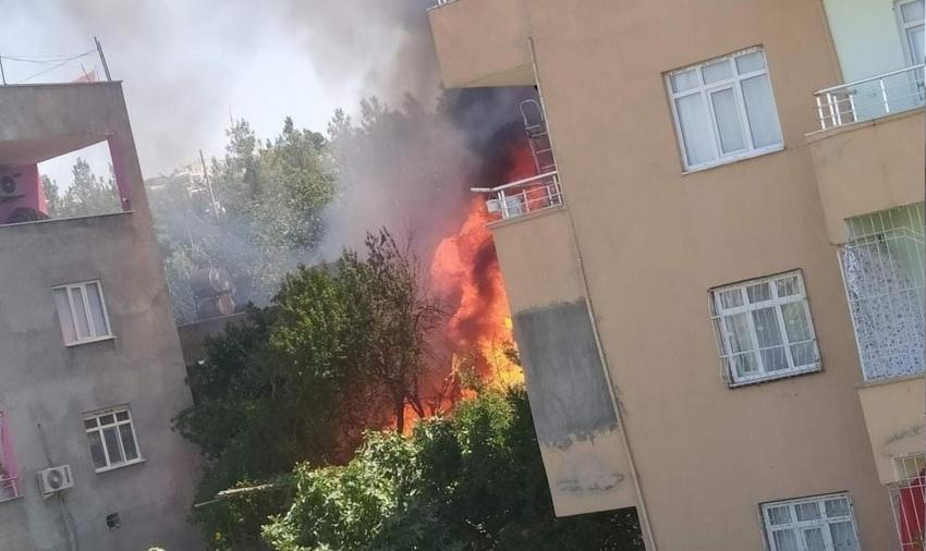 Odunlukta çıkan yangın korkuttu: 3 çocuk dumandan etkilendi