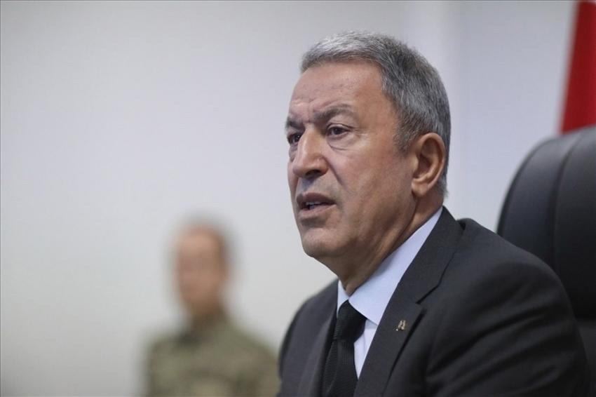 Milli Savunma Bakanı Hulusi Akar, İYİ Parti Grubu'nu ziyaret etti