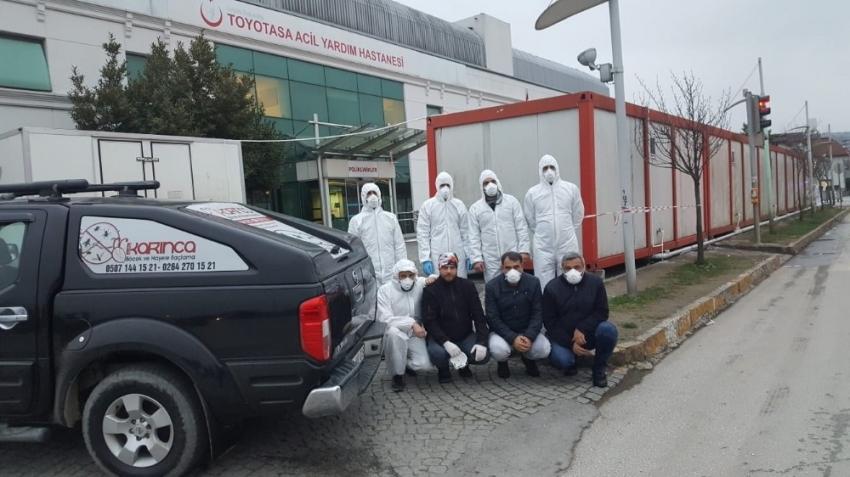 Karantina hastanesi dezenfekte edildi