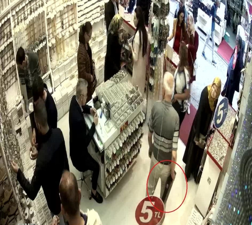 5 bin liralık yüzük hırsızlığı
