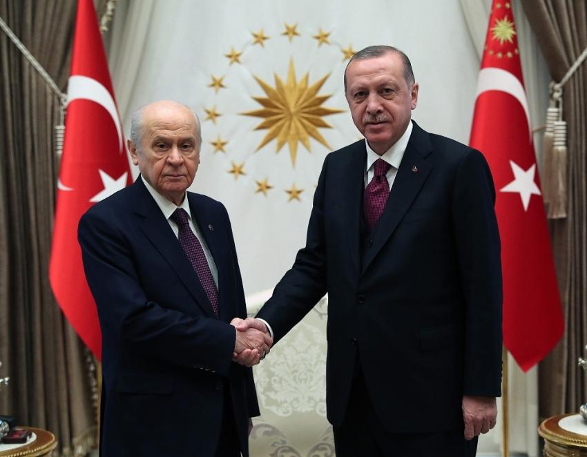 Erdoğan Bahçeli ile bir araya geldi