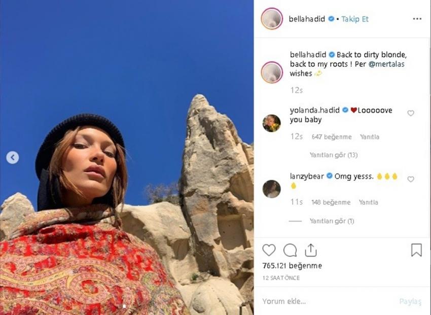 Ünlü modelin Kapadokya çekimine beğeni yağdı