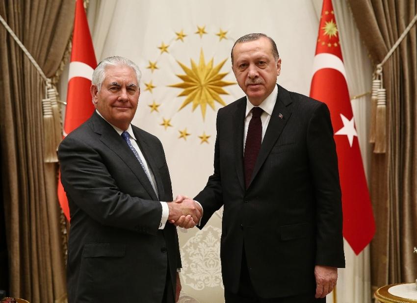 Cumhurbaşkanı Erdoğan, Tillerson'ı kabul etti