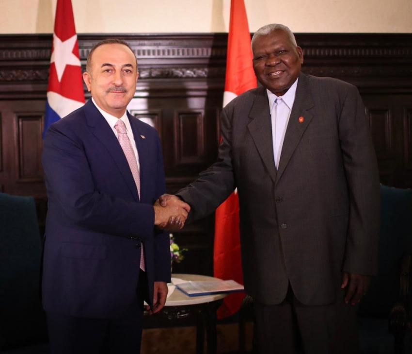 Çavuşoğlu, Küba Halkın Gücü Parlamento Başkanı ile görüştü