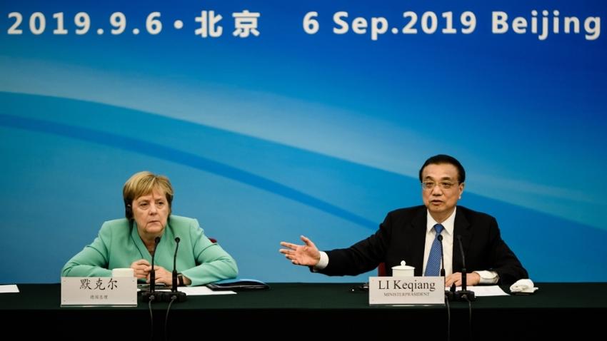 Angela Merkel Çin'de