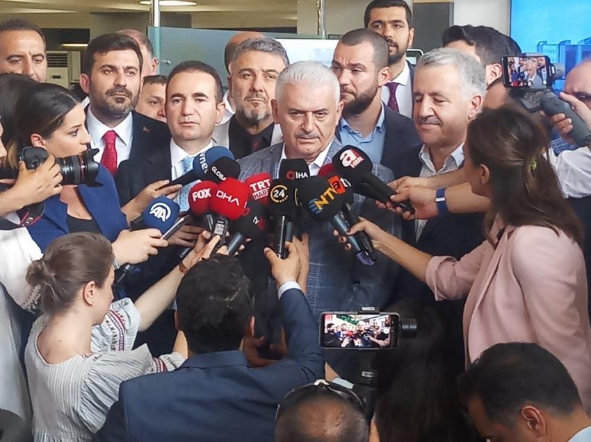 """Binali Yıldırım: """"Cumhurbaşkanı Erdoğan yayın için 'hayırlı olsun' dedi"""""""