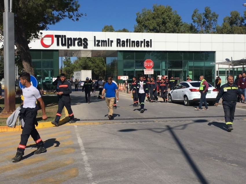 TÜPRAŞ'ın İzmir rafinerisinde patlama! Ölü ve yaralılar var