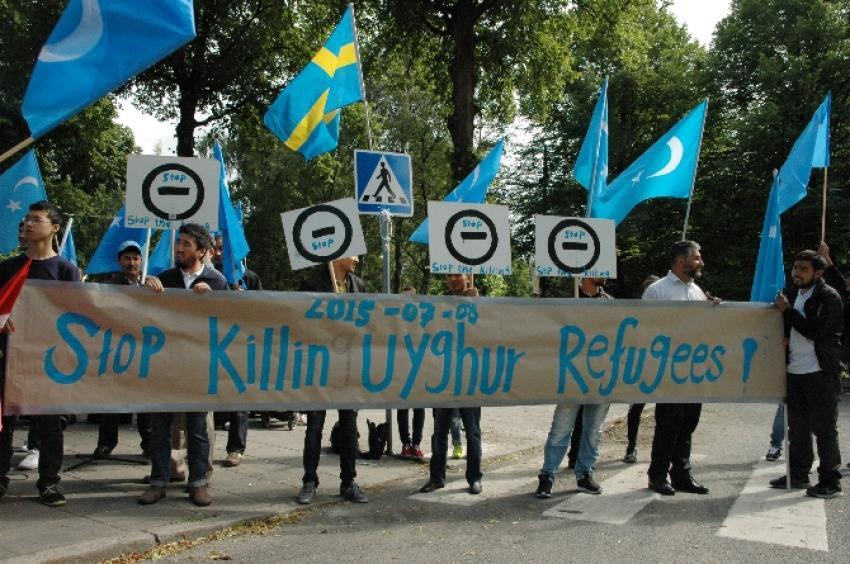 İsveç'te Çin ve Tayland protestosu