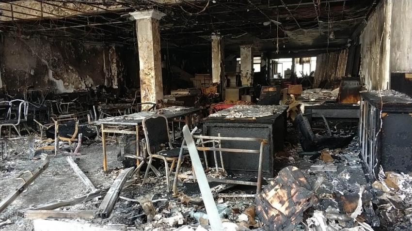 Mobilya atölyesini yaktı: 1.5 milyon lira zarar oldu
