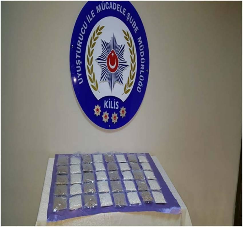 Kilis'te 37 bin adet uyuşturucu hap ele geçirildi
