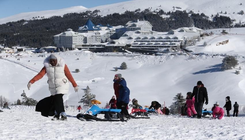 Uludağ'a yağan kar sezon sonuna kadar yetecek