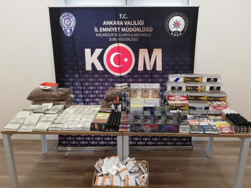Ankara merkezli 3 ilde kaçakçılık operasyonu