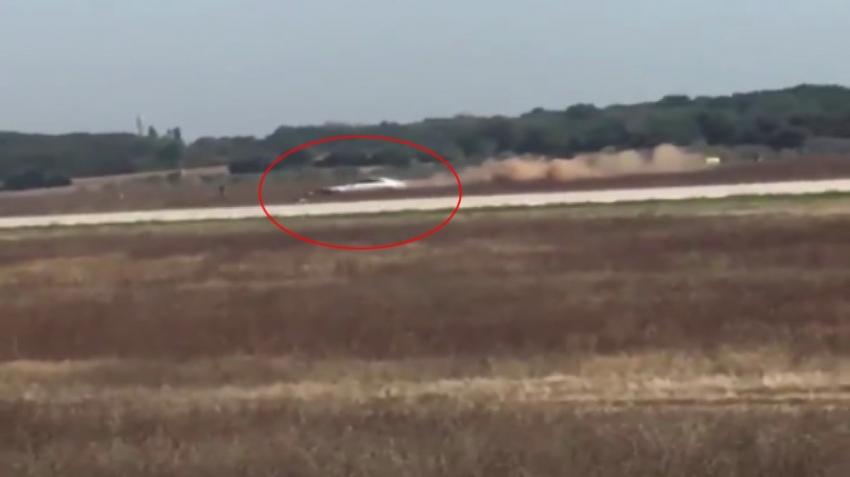 Fransa'da otomobil havalimanı pistine girdi!