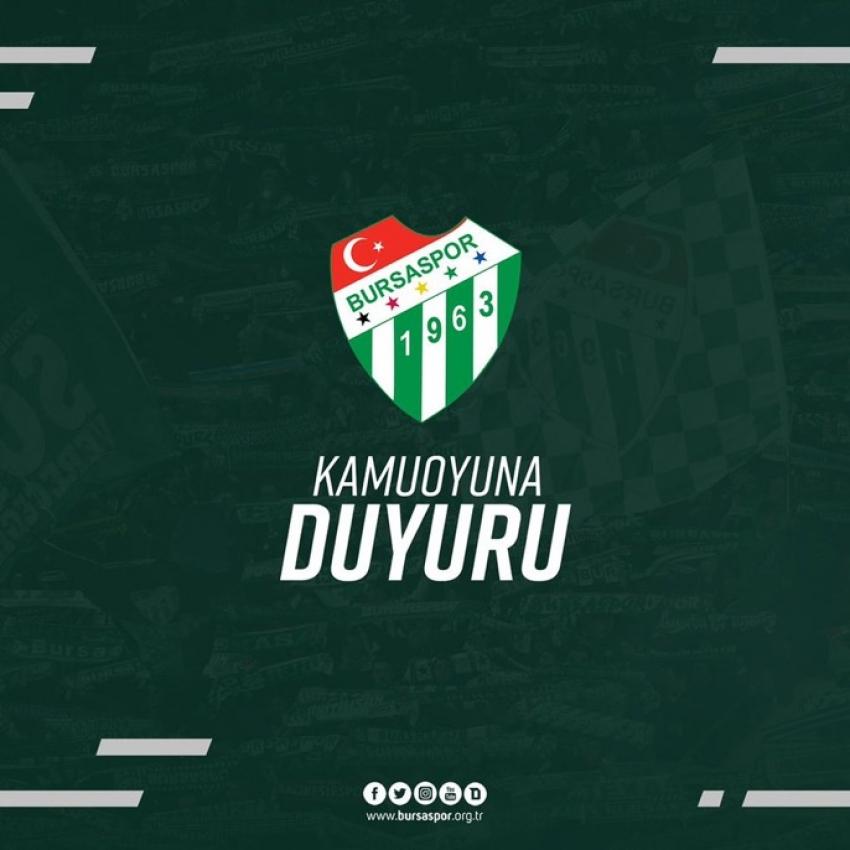 Bursaspor'un Karacabey B.S hazırlık maçı iptal oldu