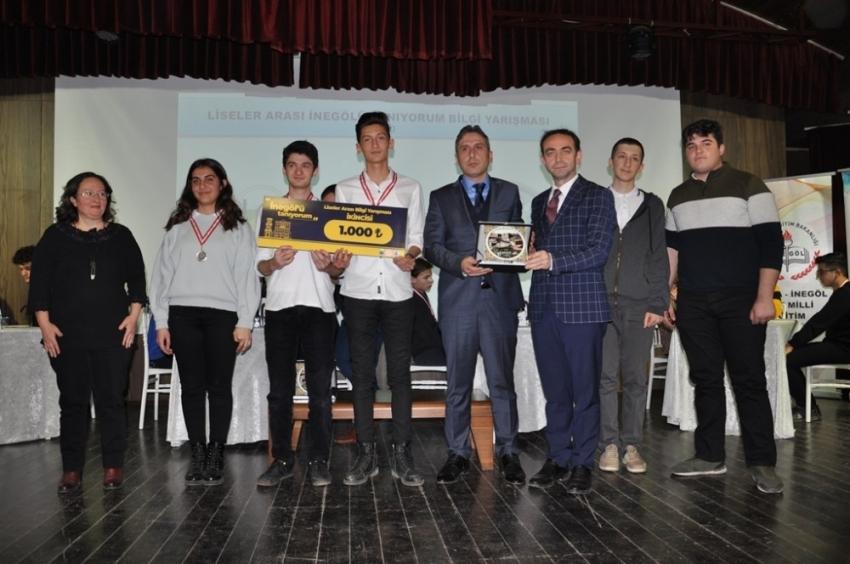 İnegöl'de lise öğrencilerini ter döktüren yarışma