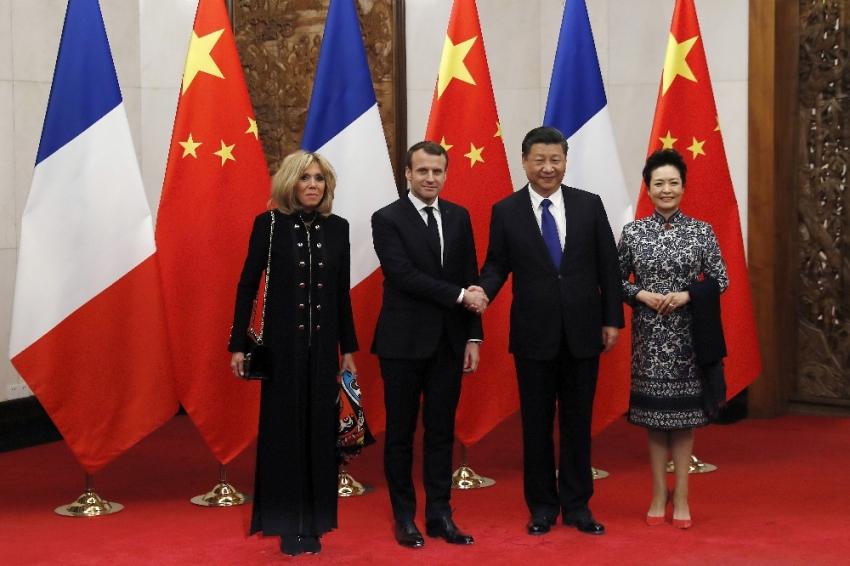 Macron ile Jinping bir araya geldi