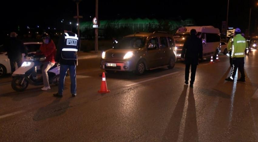 Bursa'da kısıtlama denetimi