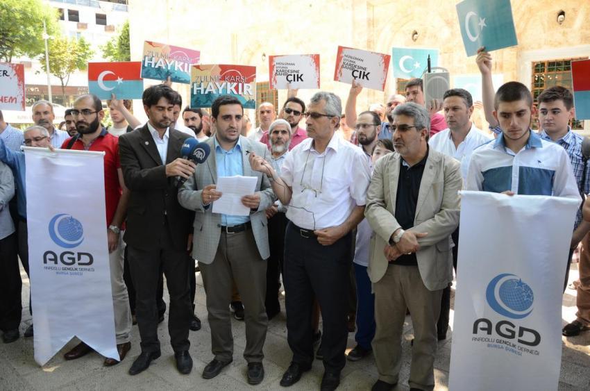 Doğu Türkistan'daki saldırılara Bursa'dan tepki!