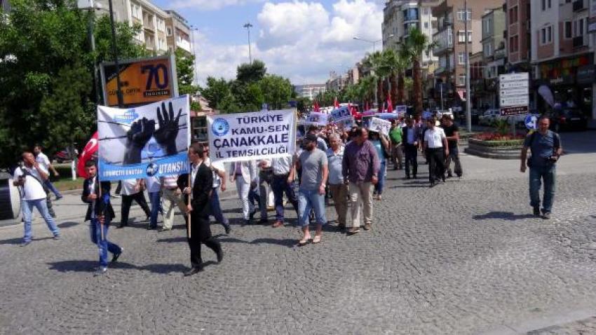 Çanakkale'de ülkücülerden Çin protestosu