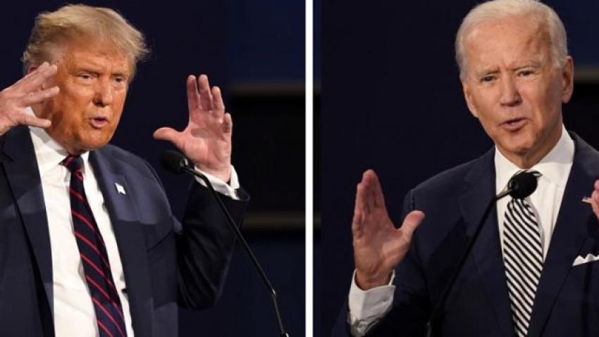 Trump ve Biden canlı yayında kozlarını paylaştı